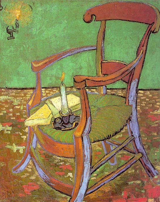 Gauguin's Chair with Books and Candle