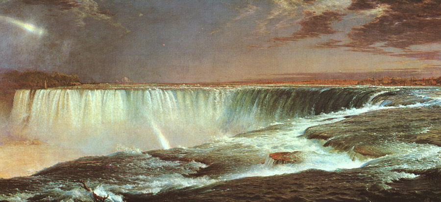 Cgfa frederic church niagara falls for Frederick church paintings