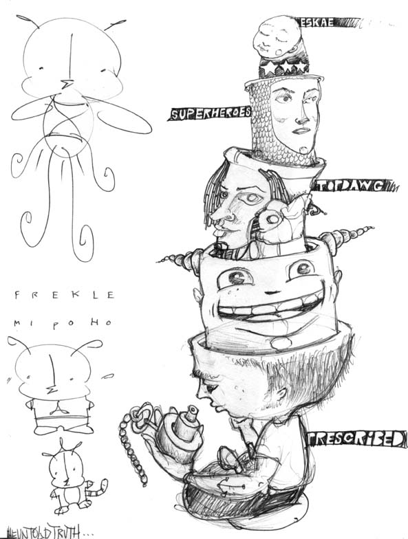 как научится рисовать граффити на бумаге карандашом.